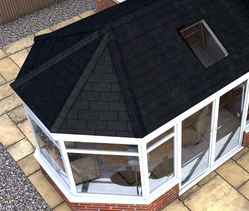New Conservatory Roof Tiled Amp Glass Conservatory Roof